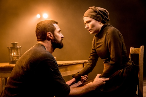 A troublesome love: John Proctor (Richard Armitage) and his wife Elizabeth (Anna Madeley); picture courtesy of Jo Allan PR / The Old Vic Theatre
